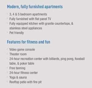 Luxe phase 1 appartment summer sublet 3 bedroom 3 bathroom