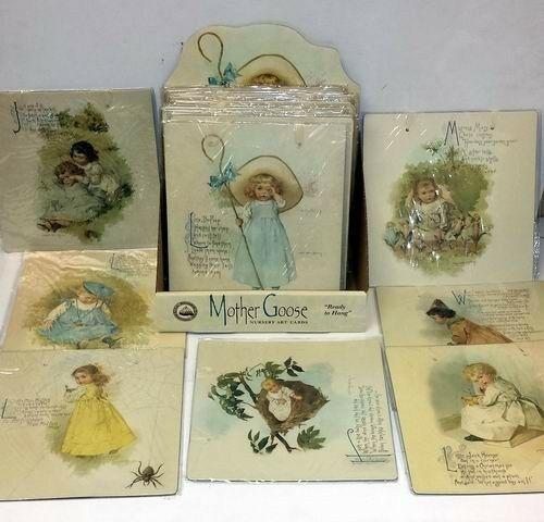 Lot of 24 Pieces - Assorted Mother Goose Nursery Art Cards