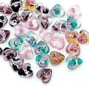 Heart Shaped Glass Beads