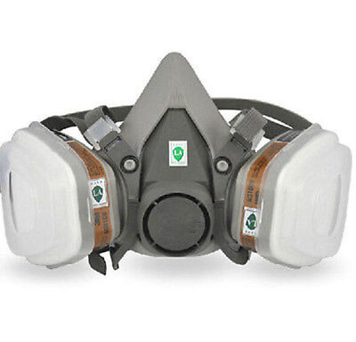 Safety Half Face Dust Gas Mask Painting Spraying For 6200 N95 Respirator 7 In 1