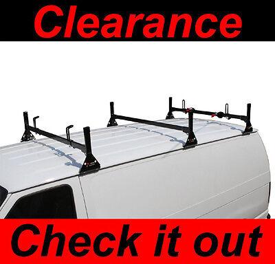 Dodge Ram All Years Van 3 bar Ladder Roof Racks Steel Black New Rack