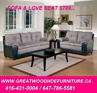 BRAND NEW MADE IN U.S.A SOFA..$499..CHOICE OF COLOURS