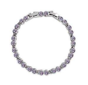 Purple Swarovski Crystal Bracelets