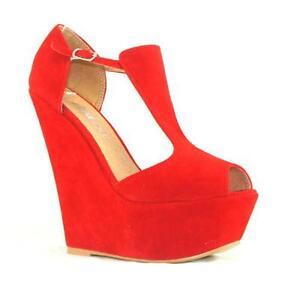 8691e2670bdf Red Platform Wedge Shoes