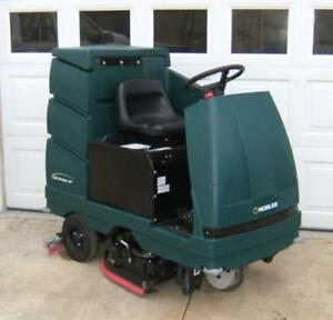 Ride-On Floor Scrubber - SWEEP & SCRUB AT THE SAME TIME!