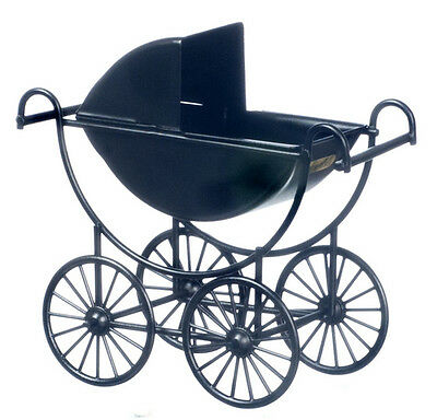 Dollhouse Miniature Doll Carriage Baby Black T8432  1:12 Scale