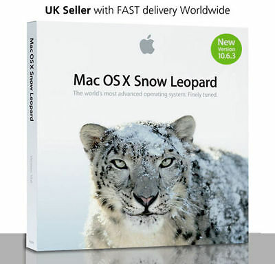 NEW Apple Mac OS X 10.6.3 Snow Leopard - GENUINE FULL VERSION - Limited Stocks