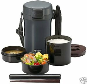 tiger thermal lunch box bento jar 72 c 6hrs keep warm food container large japan. Black Bedroom Furniture Sets. Home Design Ideas