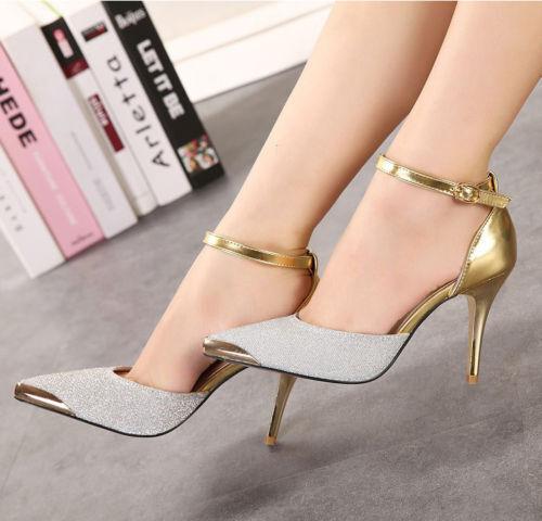 Formal Strap Ankle Stilettos Point Toe Heels