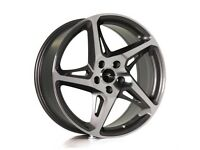 """18"""" River R-4 Alloy Wheels suitable for a Leon, Golf, Jetta, Caddy ETC"""