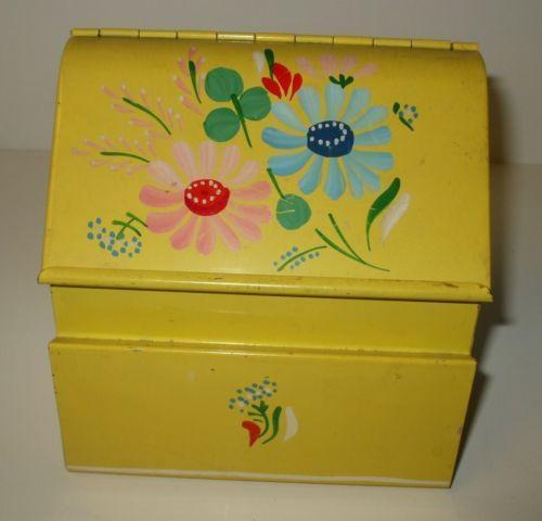 Decorative Recipe Box 2: Tin Recipe Box