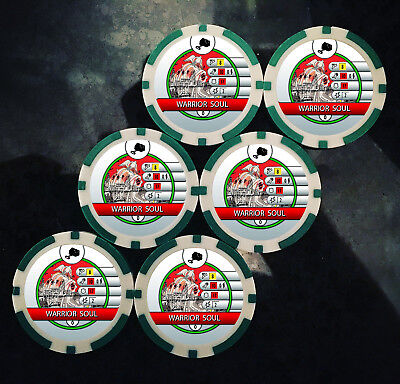 Custom Warrior Soul Tokens (x6) - Use With Various From Mighty Thor Heroclix