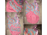 Baby Girls Handmade Summer outfits (2) Size 3-6months new will post