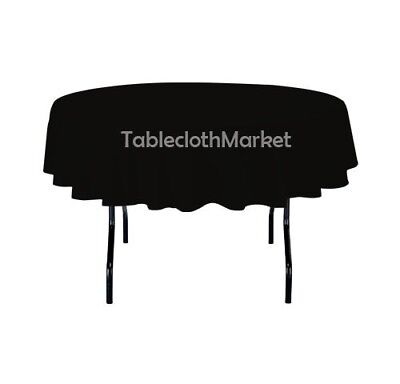 70 inch round polyester tablecloth 24 color