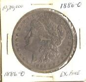 1886 0 Morgan Silver Dollar