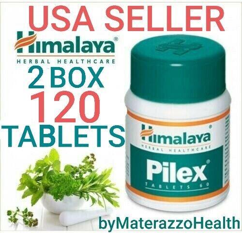 2 box 120 tablets Himalaya PILEX Hemorrhoids treatment Varicose Veins Ayurvedic