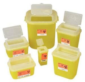Sharps container with snap lock lid Small