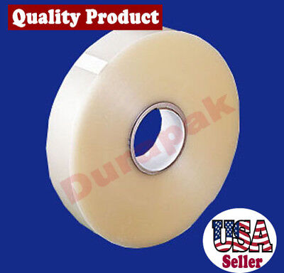 4 Rolls 1.8 Mil 3x1000 Yards Clear Machine Use Carton Box Sealing Packing Tape
