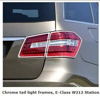 Mercedes W212 E Class Chrome Rear Lamp Tail Lamp Frames Estate Station Wagon - schaetz - ebay.co.uk