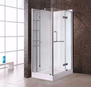 Large shower 36'' depth NEW/Grande douche de 36'' de profond
