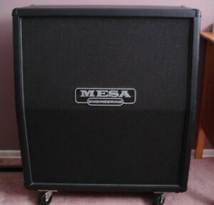 "Mint Mesa Boogie Slant O/S Cab loaded with 4x12"" Celestion V30's"