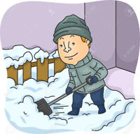 Stay inside I will shove! Reliable snow removal