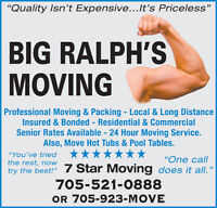 Big Ralph's Moving - Professional On Time Moving Sevices -