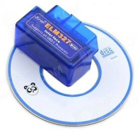 BRANDNEW MINI ELM327 OBD2 BLUETOOTH DIAGNOSTIC CAR AUTO INTERFACE SCANNER comes with CD.