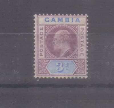 Gambia Edward VII 1902-05 (wmk Crown CA) 3d mounted mint