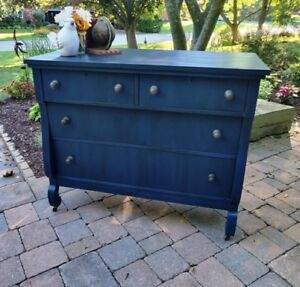 Painted Blue Empire Dresser