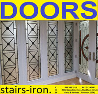 Front Door & Glass inserts + Stairs.Supply and services