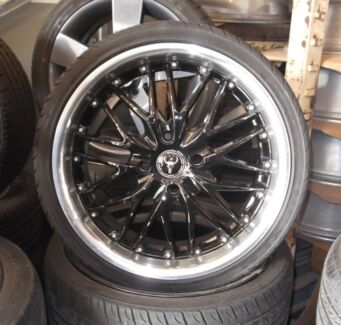 "18"" Secondhand Alloys - Ox Mesh & 215-35-18 Tyre Package Toowoomba 4350 Toowoomba City Preview"