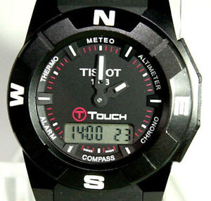TISSOT T-TOUCH TITANIUM PVD BLACK OUT BLACK OPS TREKKING WATCH