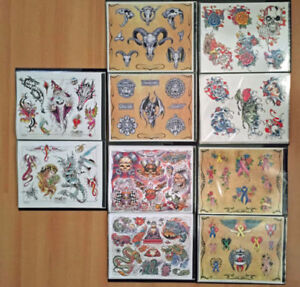 5 Grand livres - 5 Tattoo flash books / 48 pages