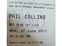 3 x Phil Collins Not dead yet tour tickets