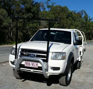 2008 Ford Ranger PJ XL Super Cab 4x2 Hi-Rider White 5 Speed Manual Cab Chassis Stapylton Gold Coast North Preview