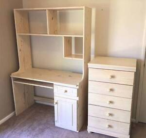 Chest of drawers and matching desk/dressing table Como South Perth Area Preview