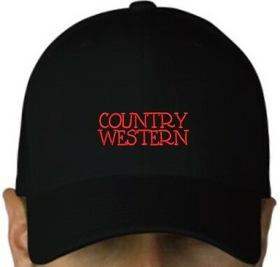Country Western black cap hook and loop closure hat music cowboy line dance hill Dance Western Cowboy Hat