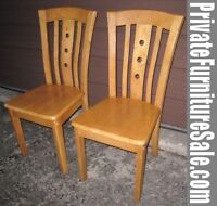 2 Great Solid Wood Chairs in great sturdy condition