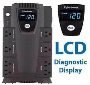 CyberPower Intelligent LCD CP600LCD 600 VA Desktop UPS - 600VA 3
