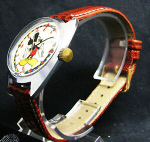 Vintage RUSSE Montre Mécanique Mickey Mouse Collectible 70's
