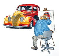 CLASSIC CAR Watercolor Portraits