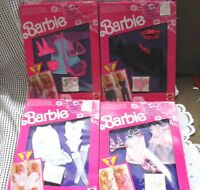 4 BARBIE DOLL FANCY FRILLS SHEER LACY LINGERIE SETS  NIB 1991
