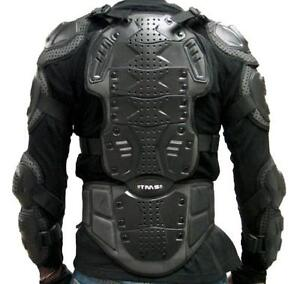 Motorcycle-Full-Body-Armor-Spine-Back-Chest-Shoulder-Protector-MX-Shirt-M-MEDIUM