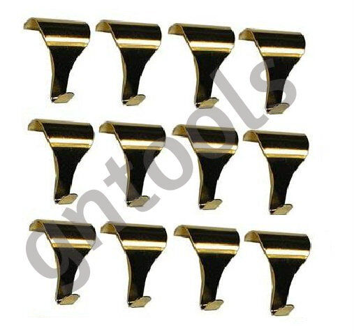Lot 50 Picture Frame Rail Mounting Hanging Hooks Brass Plated Dado