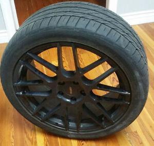 18 inch FAST Rennen Wheels 5x108 + 235/40r18 Nitto Motivo Tires