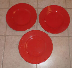 Pier 1 decorative plates: 3 red - $ 5 each, 1 Italian swirl $ 10 Kitchener / Waterloo Kitchener Area image 3