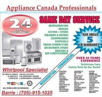 FOR ALL YOUR APPLIANCE PARTS NEEDS, CALL US AT 1-877-216-9167.