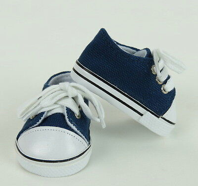 Navy Blue Sneakers for American Girl or Boy 18