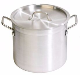 Zodiac 30 Litre Aluminium Stockpot with Lid. Brand New.Great for Stews and Soups